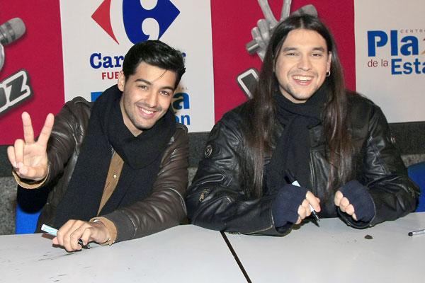 Rafa y Jorge, de La Voz, firman discos
