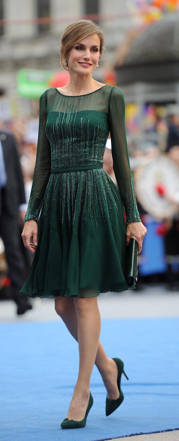 letizia vestido verde varela