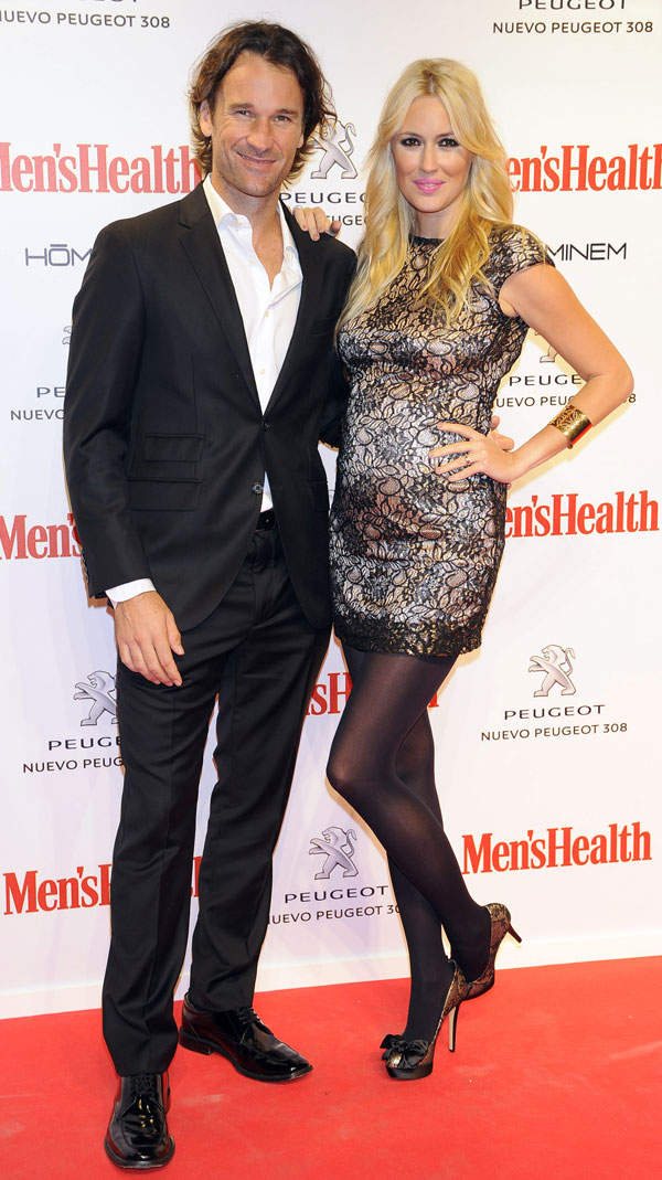 Carolina Cerezuela embarazada y Carlos Moyá premios men's heatlh