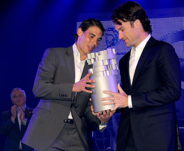 Rafa Nadal y Carlos Moya premio en Palma de mallorca