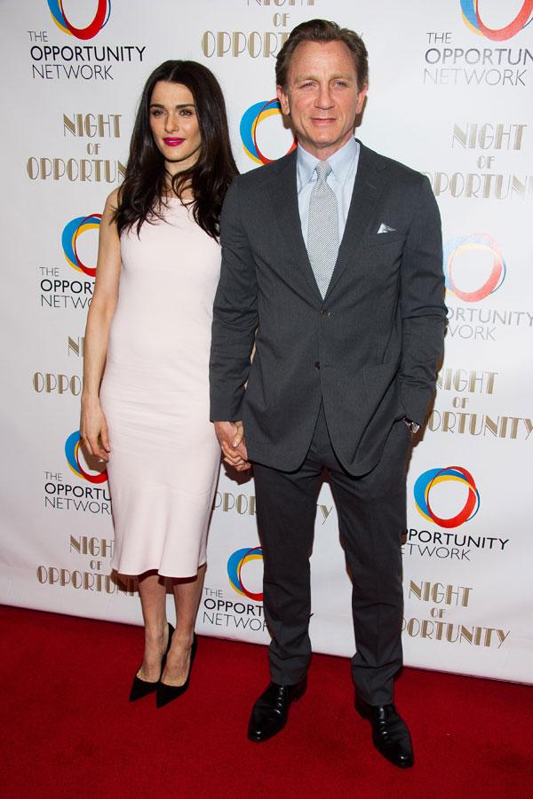 Rachel Weisz y Daniel Craig en Nueva York