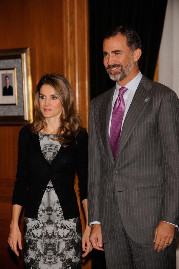 letizia y felipe en los premios príncipe de asturias 2013