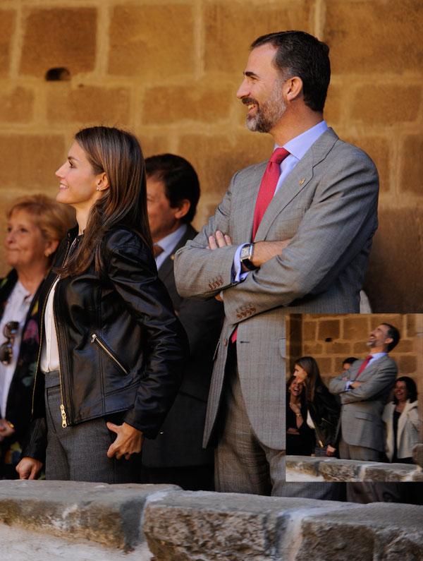 Felipe y Letizia riendo
