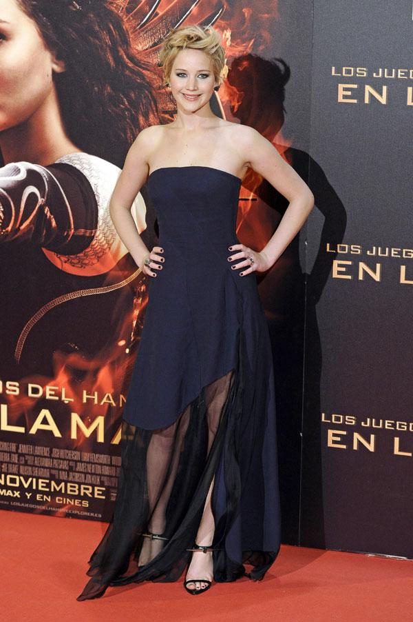 """Jennifer Lawrence, Liam Hemsworth, Josh Hutcherson, premiere Madrid """"Los juegos del hambre"""""""