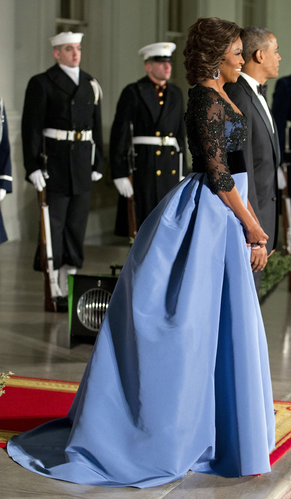 Michelle Obama cena de gala François Hollande