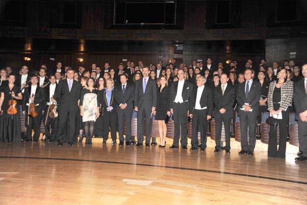 Letizia Premios Príncipe de Asturias 2013 concierto con la orquesta sinfónica del principado