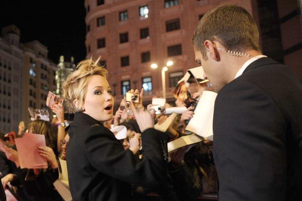 """Jennifer Lawrence, premiere Madrid """"Los juegos del hambre"""""""