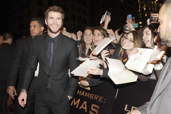 """Liam Hemsworth, premiere Madrid """"Los juegos del hambre"""""""