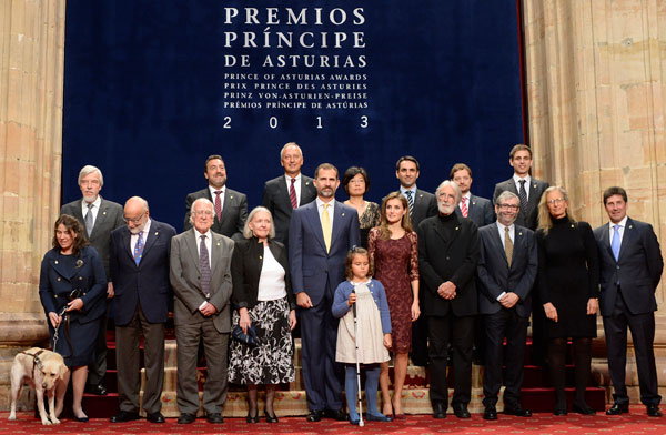 galardonados premios principe de astturias 2013, leibovitz, olazábal, higgs, haneke, muñoz molina