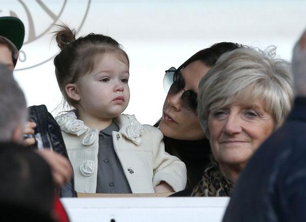 Harper Beckham, fan de su padre David