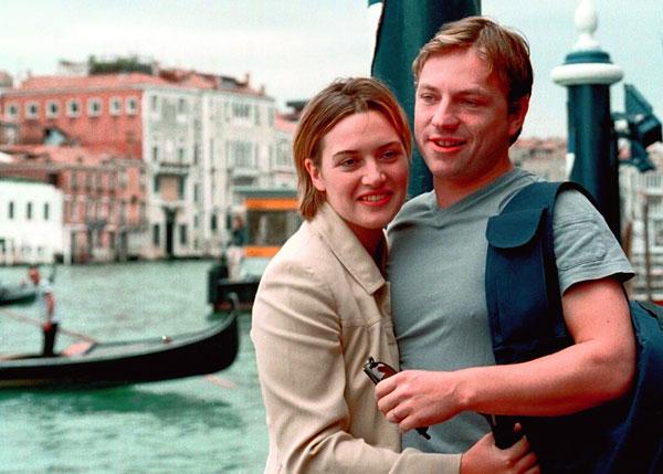 Kate Winslet, con su primer marido, Jim Threapleton.