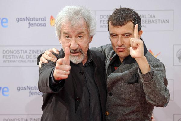 José Sacristán, favorito para el premio a mejor actor, con Javier Rebollo