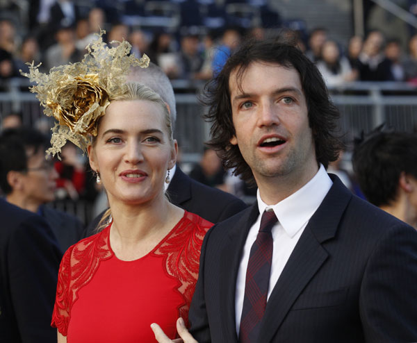 Kate Winslet, con su nuevo marido, Ted Rocknroll.