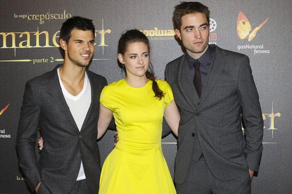 Kristen Stewart, Robert Pattinson y Taylor Lautner candidatos a los razzies