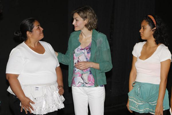 "Spanish Queen Letizia Ortiz visits to ""Casa Tomada"" cultural center in El Salvador during her oficial visit to El Salvador on Thursday 28, May 2015"