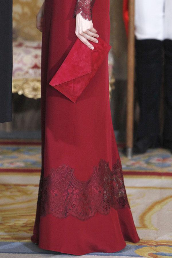 la princesa letizia en la recepción al cuerpo diplomatico