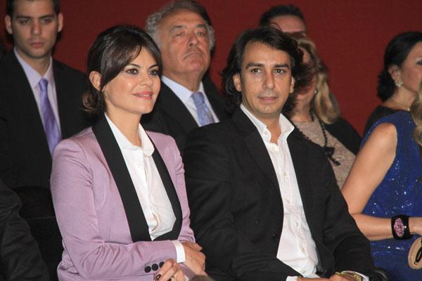 María José Suárez y su novio Fernando Sada en el Sicab