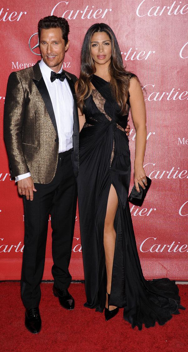 Matthew McConaughey y Camila Alves en los Premios Palm Springs 2014