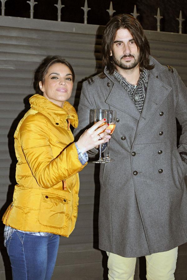 Melendi, con su mujer, La Dama