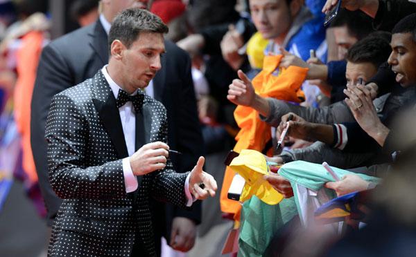 Messi, de 26 años, ha superado el récord de otros futbolistas, que lograron tres.