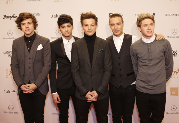 One Direction, felices con su premio Bambi