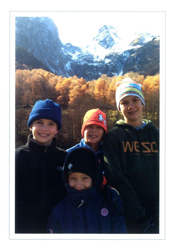 Los cuatro hijos de la infanta Cristina
