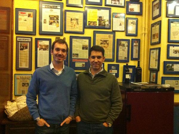 Chilo y Jaime Rivero, actuales propietarios, hijos de Jaime Rivero padre que fue el fundador