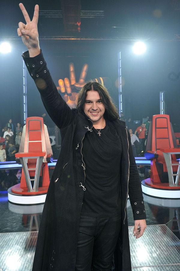Rafa, celebrando su victoria en La Voz.