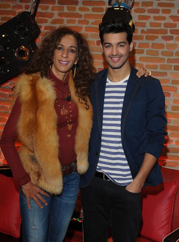Rosario, con su pupilo, Jorge, que quedó segundo.
