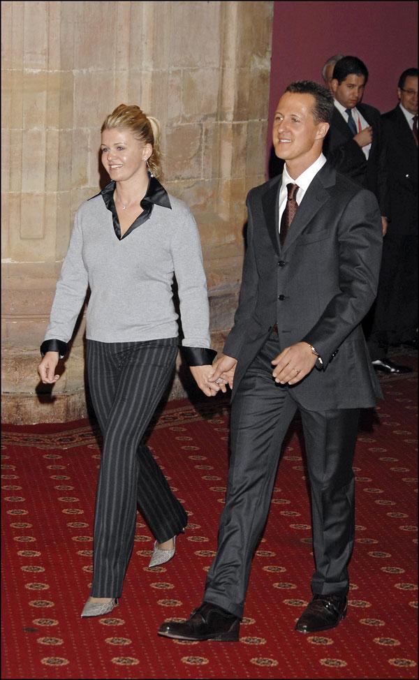 schumacher y su mujer