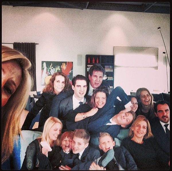 Selfie de la familia real griega