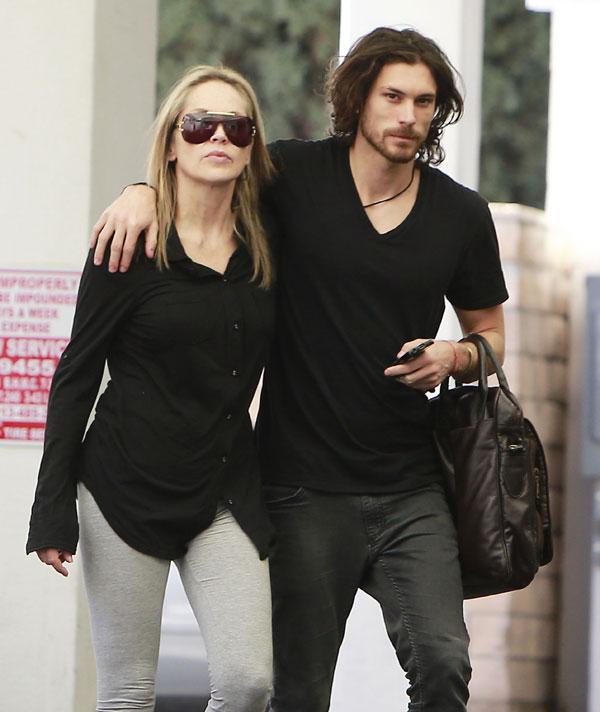 Sharon Stone, con su novio argentino