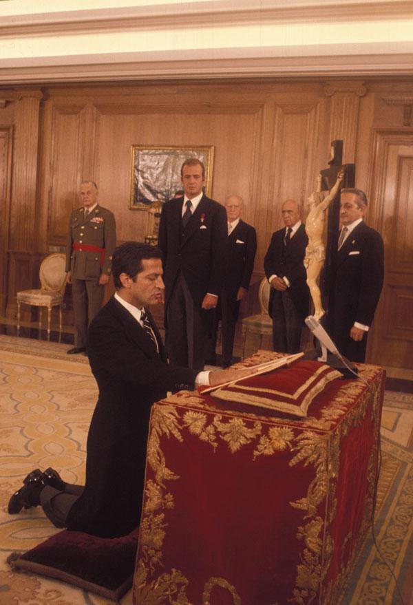 Su juramento como presidente del Gobierno