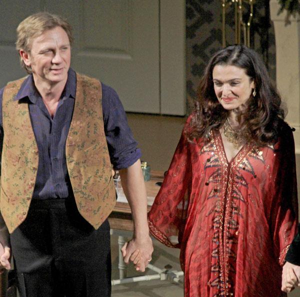Rachel Weisz y Daniel Craig en el teatro