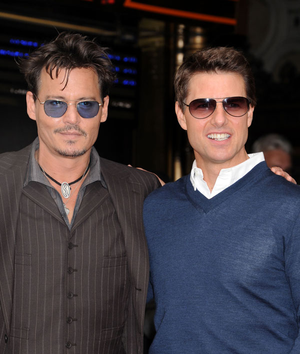 tom Cruise y Johnny Depp