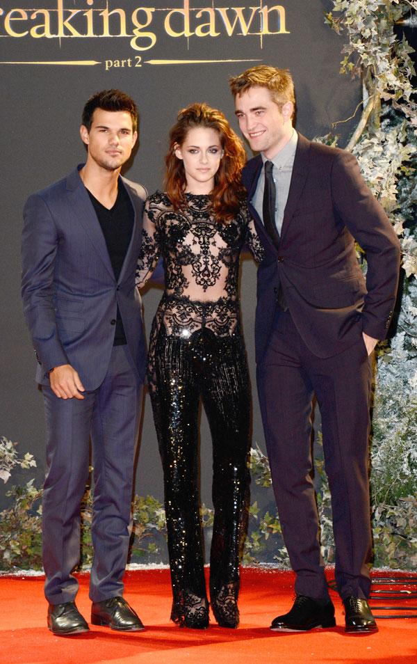 Kristen Stewart, Robert Pattinson y Taylor Lautner estreno de Amanecer en Londres