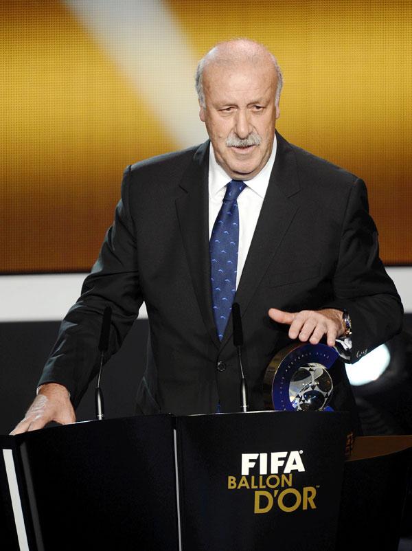Vicente del Bosque, elegido mejor entrenador frente a Guardiola y Mourinho.